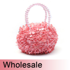 Beaded Handle Cute Round Purse Evening Bag - Wholesale