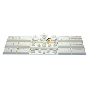 26-Pcs Jewelry Display Stackable Trays Set, Style: Gray Suede