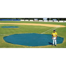 White Line Equipment 18 oz. Major League Rounded 30' Dia. Wind Weighted Tarp