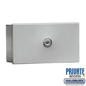 Salsbury Industries 1080AP Key Keeper (Includes Commercial Lock) - Aluminum - Surface Mounted - Private Access