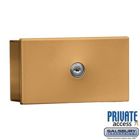Salsbury Industries 1080BP Key Keeper (Includes Commercial Lock) - Brass - Surface Mounted - Private Access