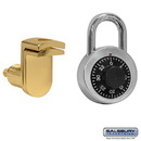 Salsbury Industries 11120 Combination Padlock - with Gold Finish Hasp - for Solid Oak Executive Wood Locker Door