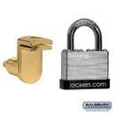 Salsbury Industries 11125 Key Padlock - with Gold Finish Hasp - for Solid Oak Executive Wood Locker Door - with (2) Keys