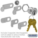 Salsbury Industries 1190 Universal Lock - for 4B+ Horizontal and Vertical Style Mailbox Door - with (2) Keys