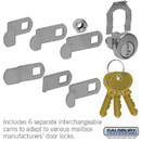 Salsbury Industries 1195 Universal Lock - for CBU/NDCBU Pedestal Style Mailbox Door - with (3) Keys