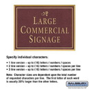 Salsbury Industries 1510MGD2 Commercial Sign - Rectangular - Surface Mounted - Maroon Sign - Gold Characters - Daisy - 2 Sided