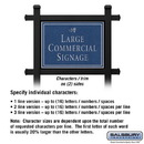 Salsbury Industries 1512CSD2 Commercial Sign - Rectangular - Black Post - Cobalt Blue Sign - Silver Characters - Daisy - 2 Sided