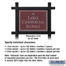 Salsbury Industries 1512MSI2 Commercial Sign - Rectangular - Black Post - Maroon Sign - Silver Characters - Infinity - 2 Sided