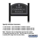 Salsbury Industries 1522BSS1 Commercial Sign - Arched - Black Post - Black Sign - Silver Characters - Shell - 1 Sided