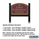 Salsbury Industries 1522MGF1 Commercial Sign - Arched - Black Post - Maroon Sign - Gold Characters - Fountain - 1 Sided