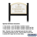 Salsbury Industries 1522WGF1 Commercial Sign - Arched - Black Post - White Sign - Gold Characters - Fountain - 1 Sided
