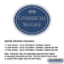 Salsbury Industries 1530CSF2 Commercial Sign - Oval - Surface Mounted - Cobalt Blue Sign - Silver Characters - Fountain - 2 Sided