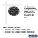 Salsbury Industries 1531BSF1 Commercial Sign - Oval - White Post - Black Sign - Silver Characters - Fountain - 1 Sided