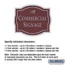 Salsbury Industries 1540MSD2 Commercial Sign - Classic - Surface Mounted - Maroon Sign - Silver Characters - Daisy - 2 Sided