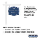 Salsbury Industries 1541CSF1 Commercial Sign - Classic - White Post - Cobalt Blue Sign - Silver Characters - Fountain - 1 Sided