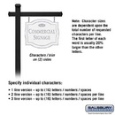 Salsbury Industries 1542WSF2 Commercial Sign - Classic - Black Post - White Sign - Silver Characters - Fountain - 2 Sided