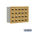 Salsbury Industries 19048-20GRC Cell Phone Storage Locker - 4 Door High Unit (8 Inch Deep Compartments) - 20 A Doors - Gold - Recessed Mounted - Resettable Combination Locks