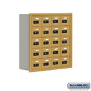 Salsbury Industries 19058-20GRC Cell Phone Storage Locker - 5 Door High Unit (8 Inch Deep Compartments) - 20 A Doors - Gold - Recessed Mounted - Resettable Combination Locks