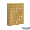 Salsbury Industries 19075-35GSK Cell Phone Storage Locker - 7 Door High Unit (5 Inch Deep Compartments) - 35 A Doors - Gold - Surface Mounted - Master Keyed Locks
