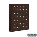 Salsbury Industries 19075-35ZSC Cell Phone Storage Locker - 7 Door High Unit (5 Inch Deep Compartments) - 35 A Doors - Bronze - Surface Mounted - Resettable Combination Locks