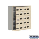 Salsbury Industries 19158-20SRC Cell Phone Storage Locker - with Front Access Panel - 5 Door High Unit (8 Inch Deep Compartments) - 20 A Doors (19 usable) - Sandstone - Recessed Mounted