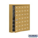 Salsbury Industries 19175-35GSK Cell Phone Storage Locker - 7 Door High Unit (5 Inch Deep Compartments) - 35 A Doors (34 usable) - Gold - Surface Mounted - Master Keyed Locks