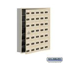 Salsbury Industries 19175-35SRC Cell Phone Storage Locker - with Front Access Panel - 7 Door High Unit (5 Inch Deep Compartments) - 35 A Doors (34 usable) - Sandstone - Recessed Mounted