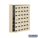 Salsbury Industries 19175-35SSC Cell Phone Storage Locker - with Front Access Panel - 7 Door High Unit (5 Inch Deep Compartments) - 35 A Doors (34 usable) - Sandstone - Surface Mounted