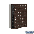 Salsbury Industries 19175-35ZRC Cell Phone Storage Locker - with Front Access Panel - 7 Door High Unit (5 Inch Deep Compartments) - 35 A Doors (34 usable) - Bronze - Recessed Mounted