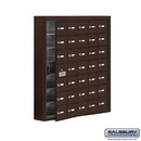 Salsbury Industries 19175-35ZSK Cell Phone Storage Locker - 7 Door High Unit (5 Inch Deep Compartments) - 35 A Doors (34 usable) - Bronze - Surface Mounted - Master Keyed Locks