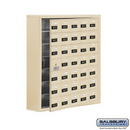 Salsbury Industries 19178-35SSC Cell Phone Storage Locker-7 Door High Unit(8 Inch Deep Compartments)-35 A Doors(34 usable)-Sandstone-Surface Mounted-Resettable Combination Locks