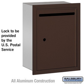 Salsbury Industries 2245ZU Letter Box - Standard - Recessed Mounted - Bronze - USPS Access