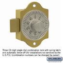 Salsbury Industries 2286 Combination Lock - for Aluminum Mailbox Door