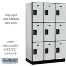 Salsbury Industries 23361GRY Extra Wide Designer Wood Locker - Triple Tier - 3 Wide - 6 Feet High - 21 Inches Deep - Gray