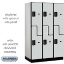 Salsbury Industries 27361GRY Extra Wide Designer Wood Locker - Double Tier S Style - 3 Wide - 6 Feet High - 21 Inches Deep - Gray