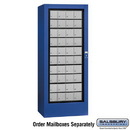 Salsbury Industries 3100BLU Rotary Mail Center - Aluminum Style - Blue - USPS Access