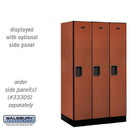Salsbury 31351CHE Designer Wood Locker - Single Tier - 3 Wide - 5 Feet High - 21 Inches Deep - Cherry