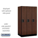 Salsbury 31351MAH Designer Wood Locker - Single Tier - 3 Wide - 5 Feet High - 21 Inches Deep - Mahogany