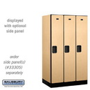 Salsbury 31351MAP Designer Wood Locker - Single Tier - 3 Wide - 5 Feet High - 21 Inches Deep - Maple
