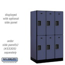Salsbury 32351BLU Designer Wood Locker - Double Tier - 3 Wide - 5 Feet High - 21 Inches Deep - Blue