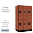 Salsbury 32351CHE Designer Wood Locker - Double Tier - 3 Wide - 5 Feet High - 21 Inches Deep - Cherry