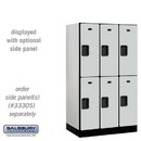 Salsbury 32351GRY Designer Wood Locker - Double Tier - 3 Wide - 5 Feet High - 21 Inches Deep - Gray