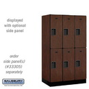 Salsbury 32351MAH Designer Wood Locker - Double Tier - 3 Wide - 5 Feet High - 21 Inches Deep - Mahogany