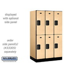 Salsbury 32351MAP Designer Wood Locker - Double Tier - 3 Wide - 5 Feet High - 21 Inches Deep - Maple