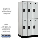 Salsbury Industries 32361GRY Designer Wood Locker - Double Tier - 3 Wide - 6 Feet High - 21 Inches Deep - Gray