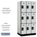 Salsbury Industries 33361GRY Designer Wood Locker - Triple Tier - 3 Wide - 6 Feet High - 21 Inches Deep - Gray
