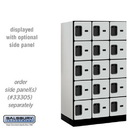 Salsbury 35351GRY Designer Wood Locker - Five Tier Box Style - 3 Wide - 5 Feet High - 21 Inches Deep - Gray