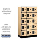 Salsbury 35358MAP Designer Wood Locker - Five Tier Box Style - 3 Wide - 5 Feet High - 18 Inches Deep - Maple