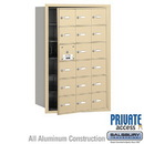 Salsbury Industries 3618SFP 4B+ Horizontal Mailbox (Includes Master Commercial Lock) - 18 A Doors (17 usable) - Sandstone - Front Loading - Private Access