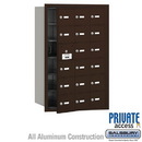 Salsbury Industries 3618ZFP 4B+ Horizontal Mailbox (Includes Master Commercial Lock) - 18 A Doors (17 usable) - Bronze - Front Loading - Private Access
